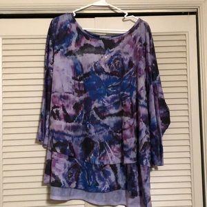Purple/gray/black tunic